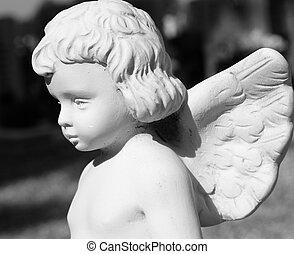 pequeno, cute, angelical, estatueta