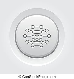 pequeno, dados, ícone