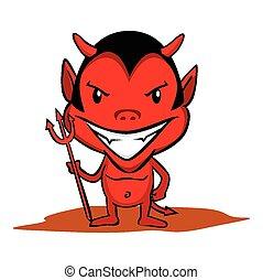 pequeno, diabo