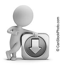 pequeno, download, 3d, -, pessoas