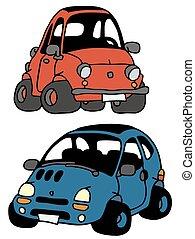 pequeno, engraçado, carros