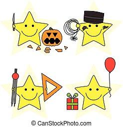 pequeno, estrelas