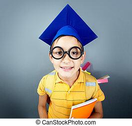 pequeno, estudante