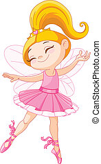 pequeno, fada, bailarina