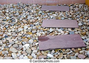 pequeno,  footpath, pedra, jardinagem