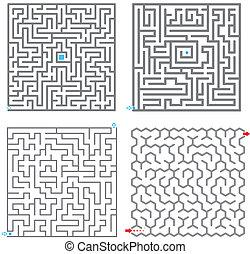 pequeno, labirinto, jogo