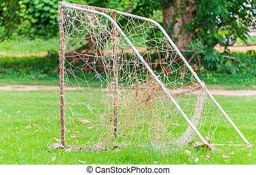 pequeno, meta futebol americano