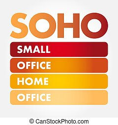pequeno, -, office/home, acrônimo, soho, escritório