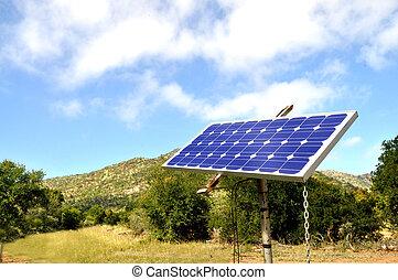 pequeno, painel solar