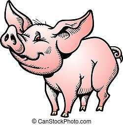 pequeno, porca