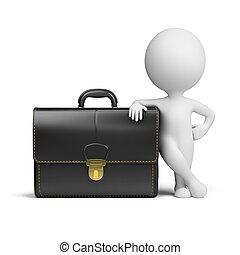 pequeno, portfolio, 3d, -, pessoas