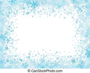 pequeno, quadro, snowflakes