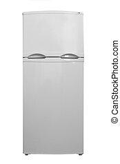 pequeno, refrigerador, branco, fundo