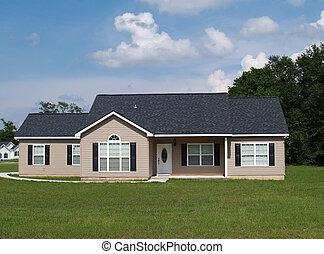 pequeno, residencial, lar