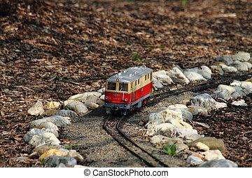pequeno, trem