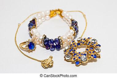 perła, odizolowany, biżuteria