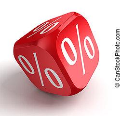per cent conceptual red dice