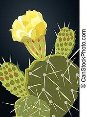pera espinosa, 1, 00005, cacto, flor amarilla