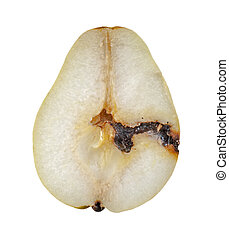 pera, verme-mangiato