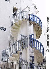 peranakan, épület, 2, lépcsőház