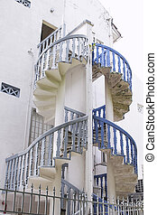 peranakan, épület, lépcsőház, 2