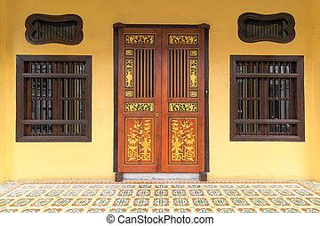 Peranakan Style Home Exterior in Penang - Peranakan typical...