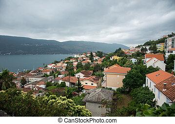 perast, synhåll, på, vik, av, kotor, montenegro