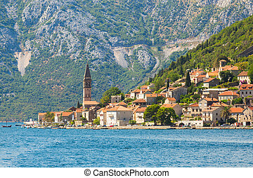 Perast town in the Bay of Kotor