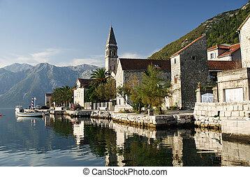 perast village near kotor in montenegro