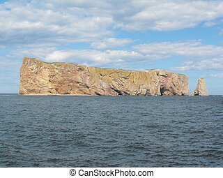 Beautiful percé rock form Gaspesie Quebec Canada