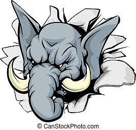 percée, éléphant