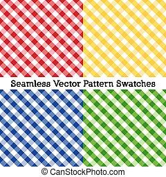 percalle, blu, croce, modelli, seamless, giallo, verde rosso, tessere
