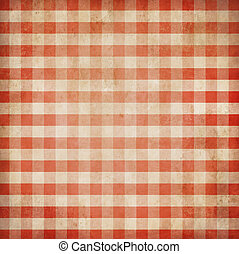 percalle, grunge, fondo, controllato, picnic, tovaglia, rosso