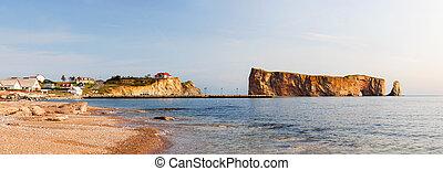 perce, 岩石, 在, gaspe 半島