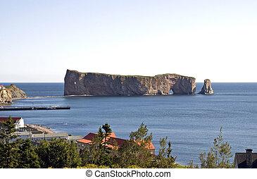 perce, 岩石, 島, 在, gaspe