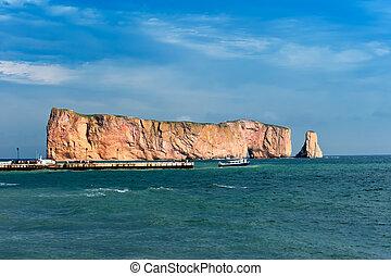 perce, 岩石, 著名的地方, 在, gaspe