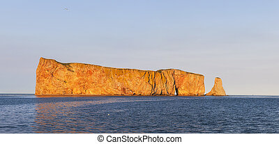 Perce Rock at sunset