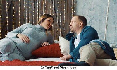 percek, párosít, romantikus, terhes