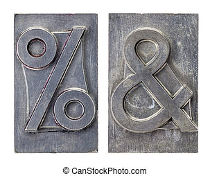 percent and ampersand symbols - percent and ampersand -...