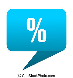 Percent blue bubble icon