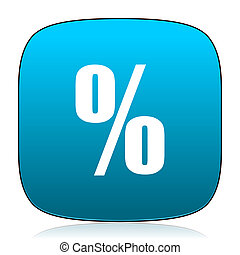 percent blue icon