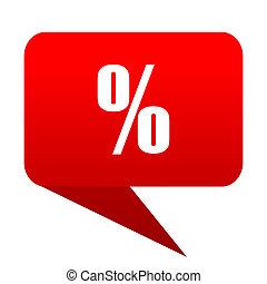 Percent bubble red icon