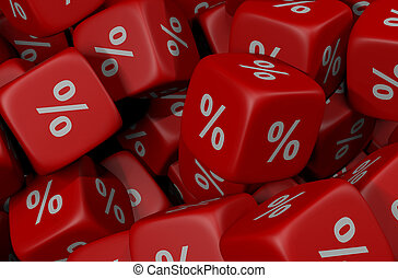 percent cubes background