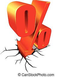 Percent discount sale concept vector