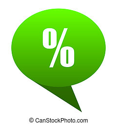 Percent green bubble icon