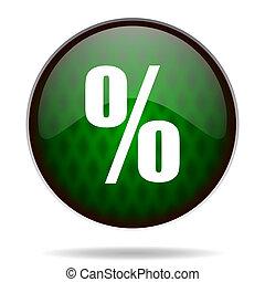 percent green internet icon