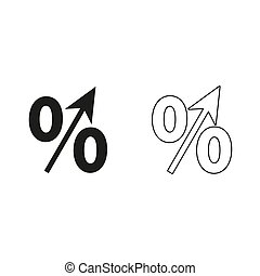 percent - green vector icon