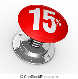 percent icon - one button with number 15 and percent symbol...