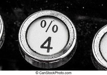percent key
