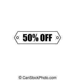 Percent off outline icon isolated. Symbol, logo illustration for mobile concept, web design and games.